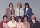 Jen Moll's family at her wedding, 1979